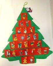 VINTAGE AVON CHRISTMAS TREE COUNTDOWN ADVENT CALENDAR WITH SMALL SANTA MARKER