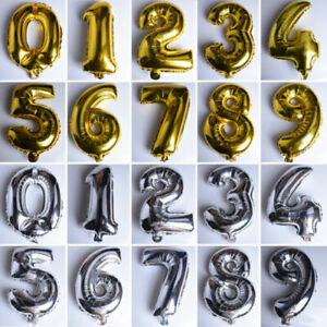 """Large 1ST Birthday Party Number 1-100 Foil Balloon 30"""" Anniversary Decor Baloons"""