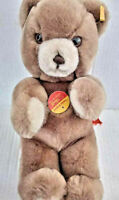 "Vtg 10"" Steiff Plush Bear Western Germany 1970s Era Ear Tag Flag Mint"