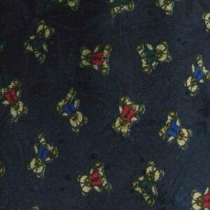Blue Teddy Bear Silk Tie