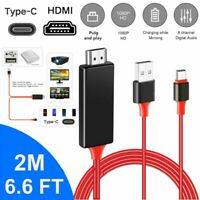MHL USB C Type-C to HDMI 1080P HD TV Cable Adapter For Android Phones Samsung pf