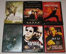 Jet Li - Lot Of 6 Dvds - Romeo Must Die, Hero, Fist Of Legend. - Like New