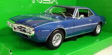 Nex models 1/24 Scale 22502W 1967 Pontiac Firebird Met Blue Diecast model car