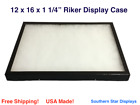 12 x 16 x 1 1/4 Riker Display Case Box for Collectibles Arrowheads Jewelry
