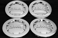 "4 NEW 2007-2014 GMC Sierra 1500 Yukon Denali XL CHROME CENTER CAP FITS 20"" WHEEL"