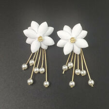 Shiny Stone Pearl Earrings Gift Gentle Fashion Jewelry Gift Gentle Flower Party