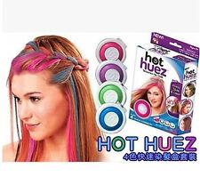 4 Color hot Huez Hues Dye hair Powder Foundation Temporary Hair powder Salon Kit