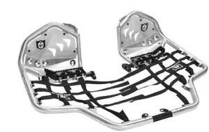 Pro Armor Revolution Nerf Bars with Heel Plates Brushed Yamaha Raptor 700