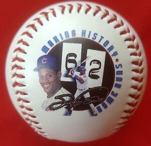 62 HOME RUNS 9/13/98 Sammy Sosa COMMEMORATIVE BASEBALL Chicago Cubs