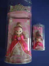 """Vintage A Set Of 2 Takara Doll """" La Reine Rose """" By Sanrio Princess +Tiara+ Ring"""