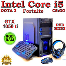 GAMING PC DESKTOP COMPUTER INTEL CORE i5 8GB RAM NVIDIA 1050 ti 1TB WINDOWS 10