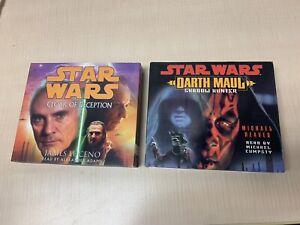 Star Wars Set of 2 Audiobooks CDs, Cloak of Deception & Darth Maul Shadow Hunter
