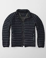 Abercrombie & Fitch A&F Ultra Lightweight Puffer Navy Jacket size XS S M L