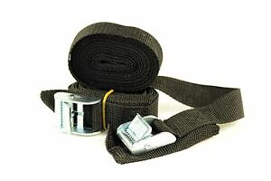Ruk Sport Tie Down Roof Rack Basic with Buckles Straps Pair 3 Meters Length