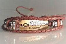 Christian Bracelet ANTIQUED BRASS - MULTI BRAID Design BROWN 100% CRISTIANO