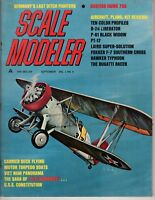 Scale Modeler Sept 1965 Curtiss Hawk 75A USS Consitution Bugatti Racer  Laird