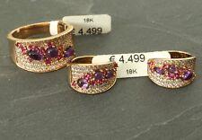 Diamanten-Schmuck Set Ohrringe, Ring mit Diamanten, 18 Karat Gold!