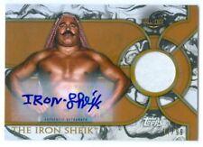 "THE IRON SHEIK ""BRONZE AUTOGRAPH SHIRT RELIC CARD /99"" TOPPS WWE LEGENDS 2018"