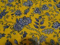 toile métis /coton 2m,80x1,55 fleurie  rideaux ,loisirs créatifs  siéges etc..