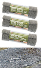 """Miner's Moss 12"""" x 36"""" Sluice Box Matting for Gold Prospecting GREY PACK 3"""