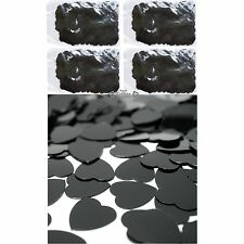 Table Party Scatters Confetti 100grams Foil Heart Wedding Decorations Black