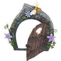Secret Garden Metal Hand Painted Miniature Fairy Door Fairies Beekeepers Cottage