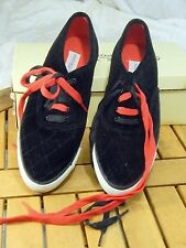 Vintage Adrienne Vittadini Sport Red and Black Sneakers Casual Walking Shoes 8