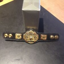 WWE WWF Authentic Replica micro WWE World Heavyweight leather belt 6 inches