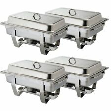 Omega 64972 Stainless Steel Chafing Dishes - Pack of 4