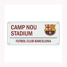 FC BARCELONA NOU CAMP WHITE STREET SIGN GIFT FOOTBALL FAN NEW FREE P+P
