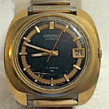 VTG Seiko Automatic 17 Jewel 7005-7080 Gold Tone Men's Watch w/Date Works !