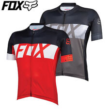 Fox Ascent Shortsleeve Cycling Jersey 2016 - Charcoal Red Yellow - S M L XL XXL
