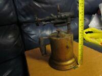 Vintage Antique Turner Brass Soder Torch Gas Blow Torch (9)