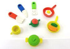 Pencil 3D Eraser Cute Rubber Kids Party Bag Fillers Kitchen Theme Mug Tea Pot