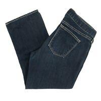 J Crew Women's Jeans Matchstick Crop Capri Low Rise Indigo Dark Wash Size 27X21