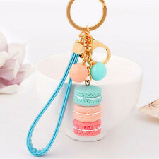 1PC Fashion Cute Candy Beads Macaron Key Chains Alloy Keychain Car Key Ring