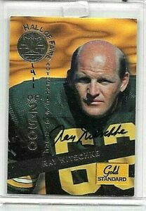 RAY NITSCHKE 1994 SIGNATURE ROOKIES GOLD STANDARD CERTIFIED AUTOGRAPH 2# OF 500