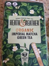 (FD) Heath & Heather Organic Imperial Matcha Green Tea 20ct Bags exp 06/2022