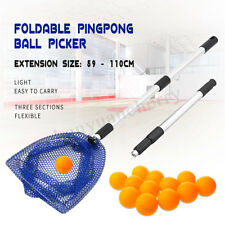 Foldable Telescopic Ping Pong Ball Picker Table Tennis Pick Up Net for Training