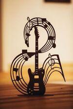 Edelrost Musiknote auf Platte Gitarre Dekoration Garten Terrasse Figur Skulptur