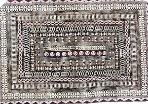 "Vintage 1960s Fiji Tapa Cloth Traditional South Pacific HandMade Large 73""x49"""