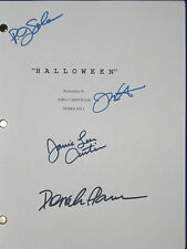Halloween Script Movie Signed 4X Jamie Lee Curtis P.J. SOLES PLEASENCE reprint