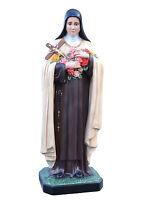 Saint Teresa de Lisieux fibra vidrio statue cm. 160 con ojos -hecho a mano