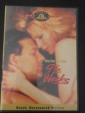 9 1/2 Weeks UNCUT DVD! Kim Basinger Mickey Rourke