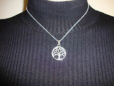 BEAUTIFUL WOMENS GIRLS TREE OF LIFE SILVER PLATED NECKLACE FAMILY TREE