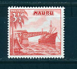 NAURU 1954 DEFINITIVES SG50a 3½d vermillion  MNH