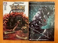 WEB OF VENOM UNLEASHED 1 Stegman Main Cvr + Bradshaw Variant Set Marvel  NM+