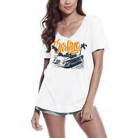 ULTRABASIC Femme T-shirt Plage de surf - Tee-shirt à manches courtes