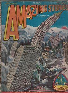 Vintage SF Pulp Magazine~AMAZING STORIES~Jan 1929 Harl Vincent/Fletcher Pratt+