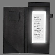 [4x] Led Check Presenter Magnetic Clamp Drink Menu Cover for Receipts Hotel 5x11